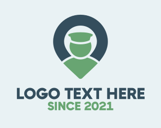 Driving - Blue & Green Locator logo design
