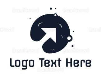 Meteor - Black Moon Arrow logo design