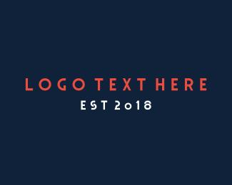 Tagline - Modern San Serif Font Text Wordmark logo design