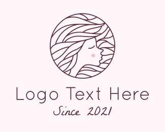 Pretty - Maroon Pretty Woman logo design