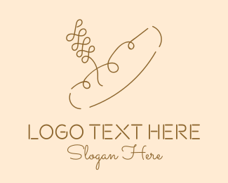 French Pastry - Minimalist French Baguette Bread logo design
