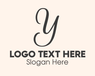 Fashion Label - Luxurious Letter Y logo design