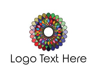 Kaleidoscope - Kaleidoscope Flower logo design