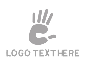 Finger - C Hand logo design