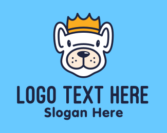Crown - French Bulldog King Crown logo design