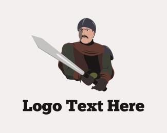 Fencing - Medieval Warrior logo design
