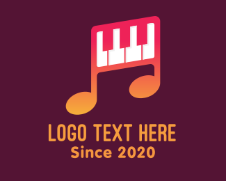 Melody - Piano Melody Music School logo design
