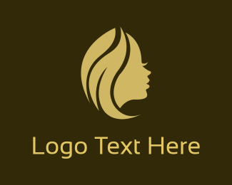 Beautify - Golden Profile logo design