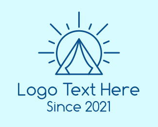 Outdoor Activity - Summer Camping Tent logo design