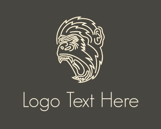 Indonesia - White Gorilla  logo design