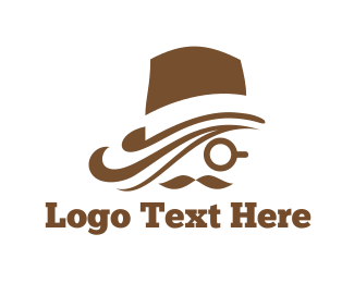 White And Brown - Brown Hat logo design