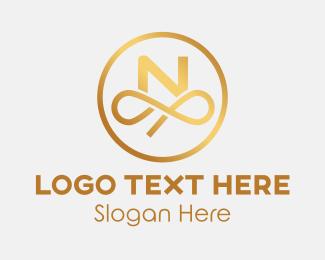 """""""Circle Loop Letter N"""" by Mypen"""