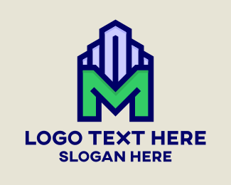 Travel - Building Letter M logo design