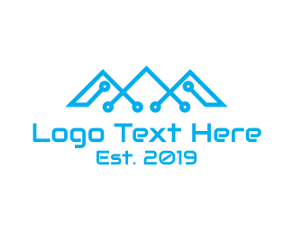 Colorado - Tech Mountains logo design