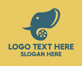 Cinema - Elephant Movie Film logo design