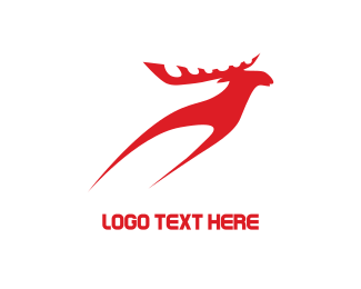 Fast - Red Reindeer logo design