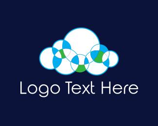 Weather - Bubble Cloud logo design