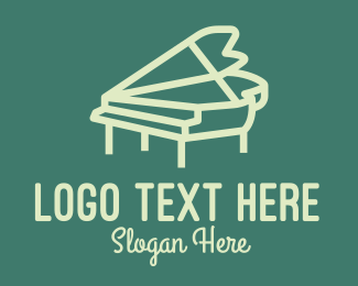 Piano Tutorial - Minimal Musical Piano logo design