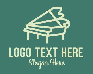 Minimal - Minimal Musical Piano logo design