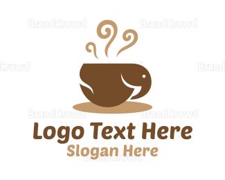 Cocoa - Elephant Coffee Cup logo design