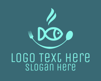 Poke - Fish Bowl Seafood Restaurant logo design