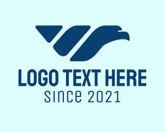 Courier - Blue Falcon Courier logo design