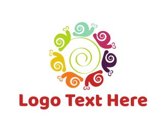Swarm - Snail Circle logo design