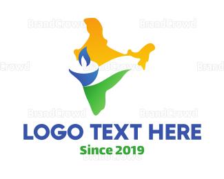 Bangladesh - India Candle logo design