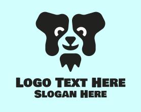 Puppy - Black Dog logo design