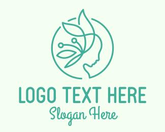 Mother - Green Eco Woman logo design