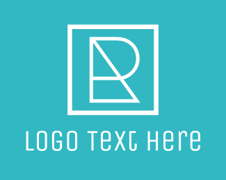 Photoshop - Geometric Letter R logo design