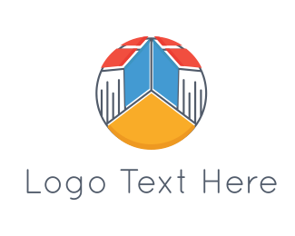 Teacher - Book Town logo design
