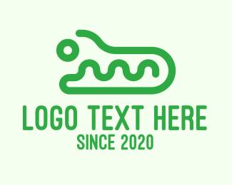 Alligator - Green Wild Crocodile  logo design