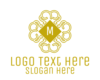 Intricate - Luxurious Pattern Lettermark logo design