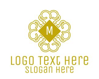 Detailed - Luxurious Pattern Lettermark logo design