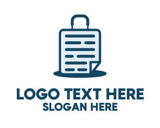 Office Supplies - Document Suitcase logo design