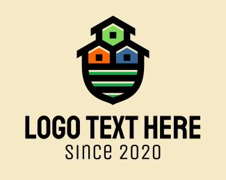 Rental - Shield House Neighborhood logo design