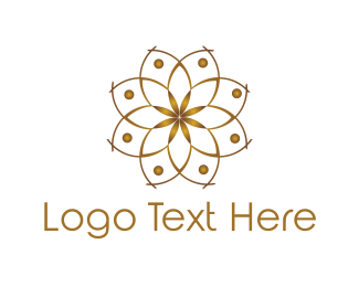 Acupuncture - Golden Lotus logo design