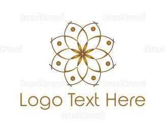 Conditioner - Golden Lotus logo design
