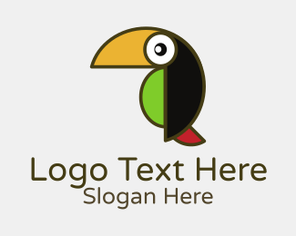 Jungle - Toucan Jungle Bird logo design