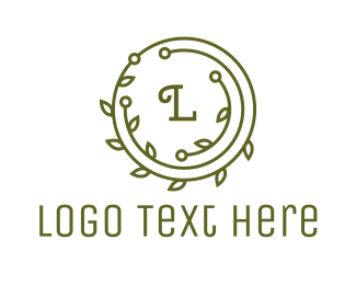 Circular - Green Laurel Wreath logo design