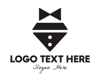 Chauffeur - Diamond Bow Tie logo design