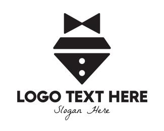 Waiter - Diamond Bow Tie logo design