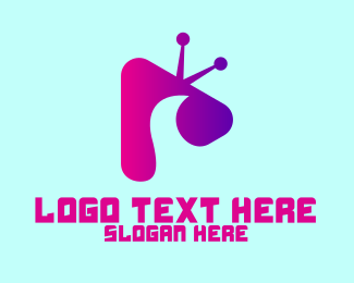 Tv Show -  Purple Television Media Player  logo design