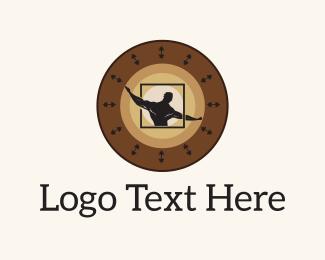 Physical - Strong Man Circle logo design