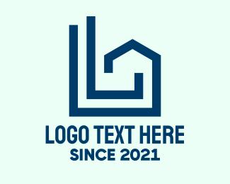 Real Estate Broker - Blue Geometric Housing  logo design