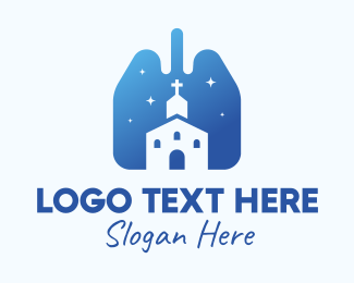 Lungs - Blue Lungs Church logo design