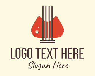 Ukelele - Vintage String Instrument logo design