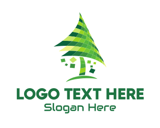 Pine - Digital Tree  logo design