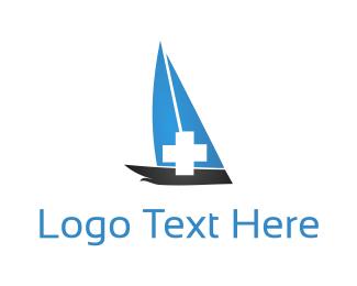 Canoe - Medical Boat logo design